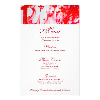 Red Wedding Dinner Menu