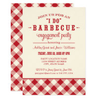Red Wedding Engagement Party | I Do BBQ Card