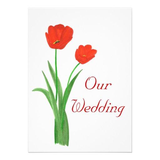 Red Wedding Invitations, Tulips