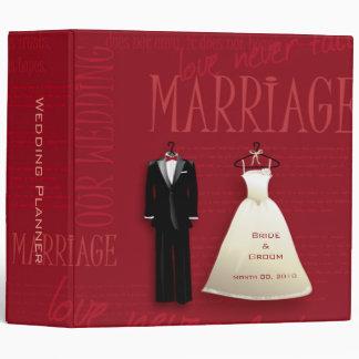 Red Wedding Planner Binder