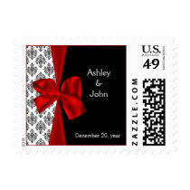 red wedding postage