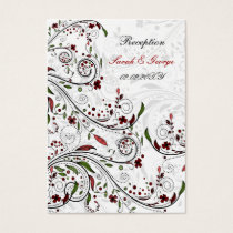 red wedding Reception   Cards