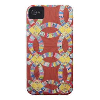 Red Wedding Ring Quilt Case-Mate iPhone 4 Cases