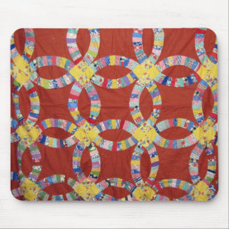 Red Wedding Ring Quilt Mousepads