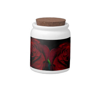 Red wedding rose and its meaning candy jar