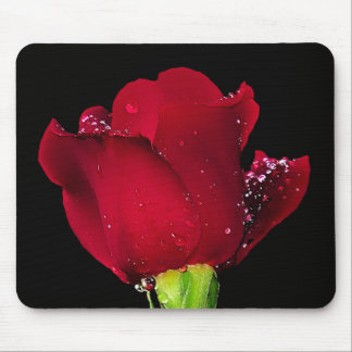 Red Wedding Rose Mouse Pad