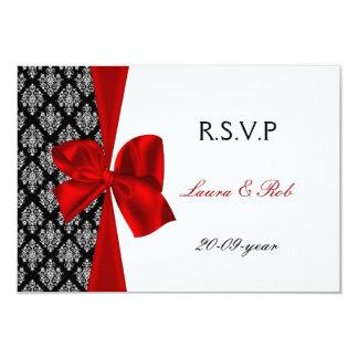 red, wedding rsvp cards standard 3.5 x 5