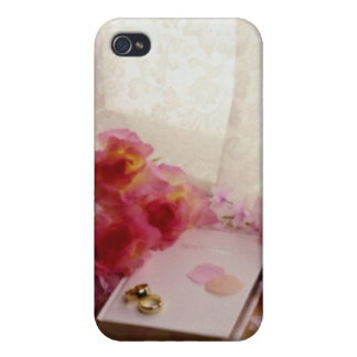 Red Wedding still life flowers iPhone 4 Covers