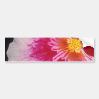 Red Welcome flowers Car Bumper Sticker