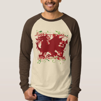 Red Welsh Dragon Men's Long Sleeve Raglan Shirt