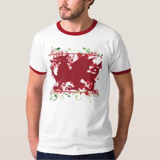 Red Welsh Dragon Men's Ringer T-Shirt