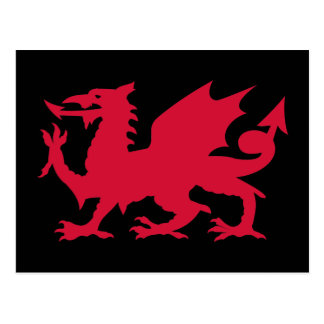 Red Welsh Dragon Postcard