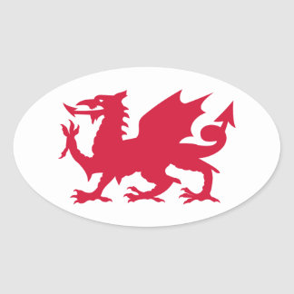 Red Welsh Dragon Stickers