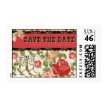 Red Western Save The Date Stamps