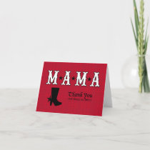 Red Western Themed Thank You Card