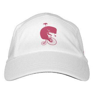 Red Whale Rider on Vintage Penny Farthing Bike Hat