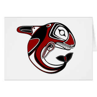 Red Whale Totem Card