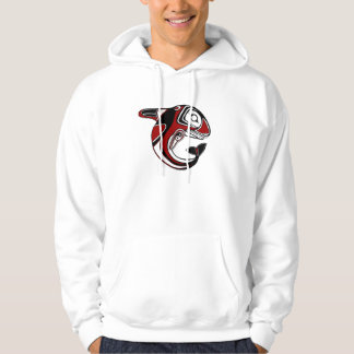 Red Whale Totem Hoodie
