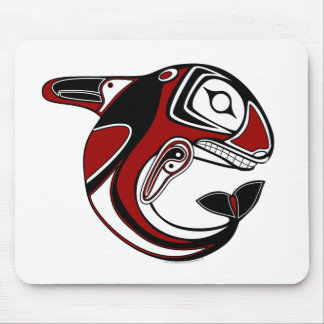 Red Whale Totem Mousepad