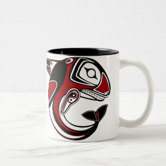 Red Whale Totem Mug
