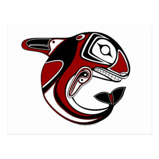 Red Whale Totem Postcard