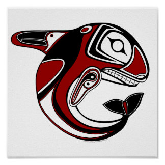 Red Whale Totem Poster