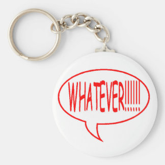 Red Whatever Speech Bubble Keychain