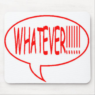 Red Whatever Speech Bubble Mouse Pad