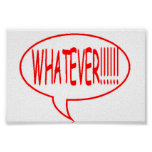 Red Whatever Speech Bubble Print
