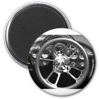 Red Wheel 2 Inch Round Magnet