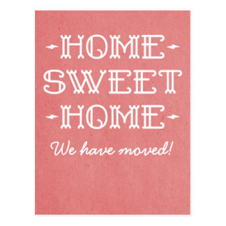 Red Whimsical Home Sweet Home Postcard