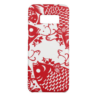 Red Whirling Koi Carp Fish Group Samsoung Galaxy C Case-Mate Samsung Galaxy S8 Case