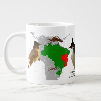 Red-Whiskered Bulbuls in Brazil by RoseWrites Giant Coffee Mug