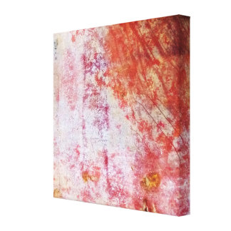 Red & White Abstract Grungy Painting Canvas Print