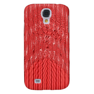 red white abstract pern galaxy s4 cases
