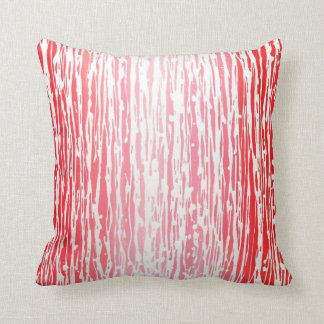 Red & White Abstract Throw Pillow