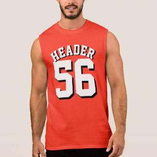 Red & White Adults | Sports Jersey Design Sleeveless Tee
