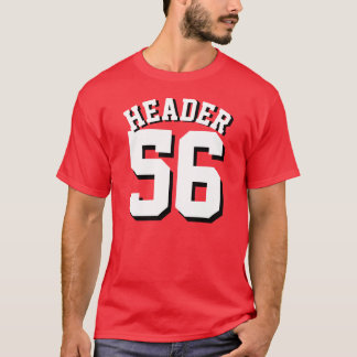 Red & White Adults | Sports Jersey Design T-Shirt
