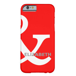 Red White Ampersand Lovers Names Matching Right Barely There iPhone 6 Case