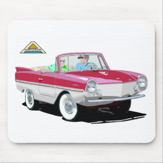 Red-White Amphicar Mouse Pad