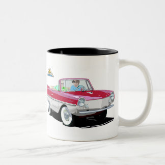 Red-White Amphicar Two-Tone Coffee Mug