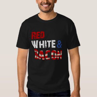 Red White and Bacon Tee Shirt