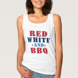 Red White and BBQ | Fourth of July Tank Top
