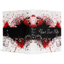 Red White and Black Abstract 1 inch 3 Ring Binder