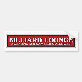 red white and black Billiard Lounge sign Bumper Sticker