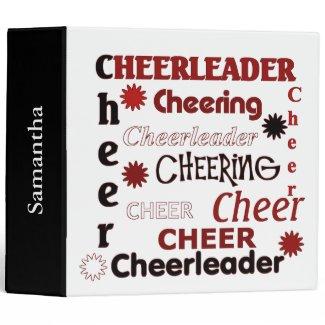 Red, White, and Black Cheerleader Binder