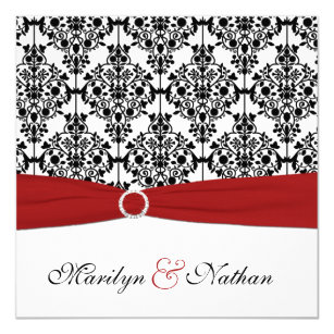 Red Black Wedding Invitations Announcements Zazzle