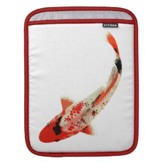 Red, White, and Black Koi Fish iPad Sleeve