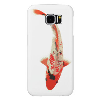 Red, White, and Black Koi Fish Samsung Galaxy S6 Case