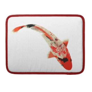 Red, White, and Black Koi Fish Sleeve For MacBook Pro